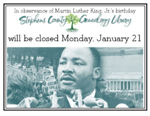 LIBRARY CLOSED: MLK Day