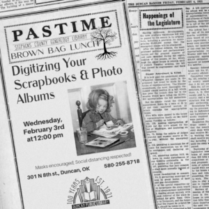 February Brown Bag: Digitizing Your Scrapbooks and Photo Albums @ Genealogy Library